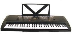 61 Keys Black Keyboard Full Size Student Electronic Digital