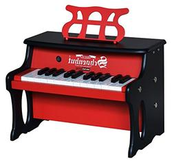 Schoenhut 25 Key 2 Toned Table Top Piano, Red/Black, One Siz