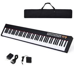 BXII 88 Key Digital Piano mini Keyboard w/Bluetooth &MP3 Por