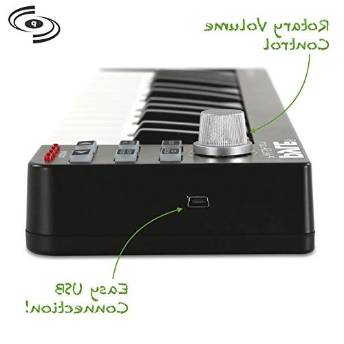 Pyle USB Controller Portable Recording Equipment Hardware Control any DAW for Laptop Computer Music