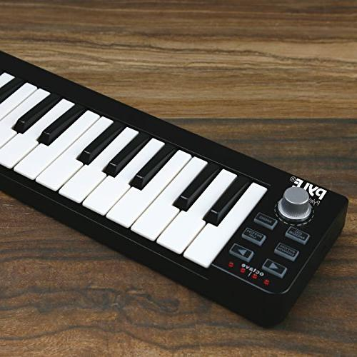 Pyle USB MIDI Keyboard Controller Portable Audio Recording Workstation Equipment Control DAW Software for Laptop Music