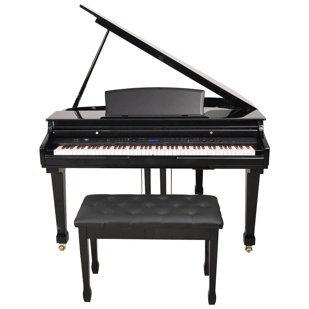 Artesia 50 Digital Grand Gloss Ebony Natural Piano Cabinet New