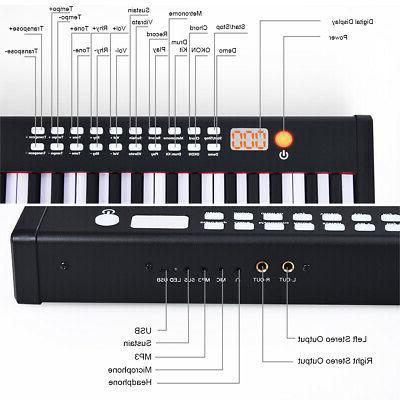 BXII 88 Digital Piano mini Keyboard &MP3 Black