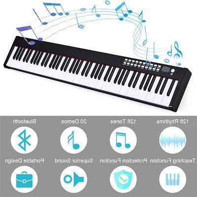 BXII 88 Piano mini w/Bluetooth &MP3 Portable Black