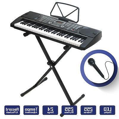 digital piano keyboard 61 key portable electronic