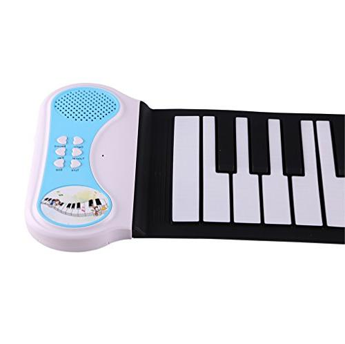Lightahead Portable 37-Keys Roll Silicone Flexible Electronic Digital Music Keyboard Piano in