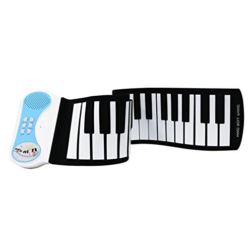 Lightahead Portable 37-Keys Roll up Silicone Flexible Keyboard Piano