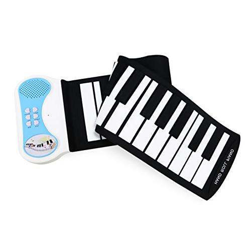 Lightahead Roll Flexible Digital Music Keyboard Piano in Speaker