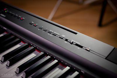 Yamaha P-125 Digital - Black KEY ESSENTIALS BUNDLE