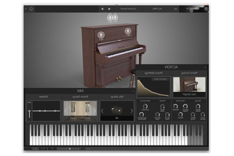 Arturia V, Pianos Virtual Instrument Digital