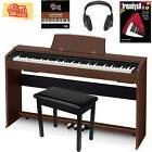 Casio Privia PX-770 Digital Piano - Brown w/ Furniture Bench