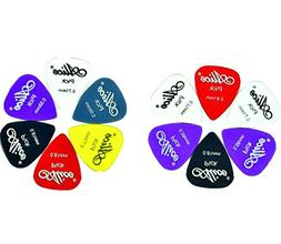 Matte Nylon Guitar Picks, 12 Pack - Assorted Solid Colors -