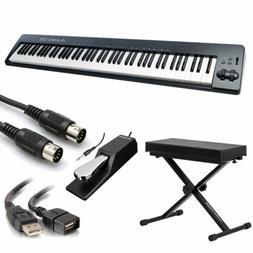 Alesis Q88 | 88-Key USB/MIDI Keyboard Controller With Bench