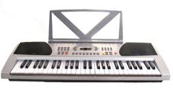 54 Keys Silver Keyboard Electronic Digital Piano - With note