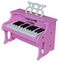 Schoenhut 25 Key Digital Table Top Toy Piano, Pink, One Size